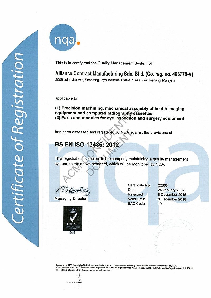 Certifications awards acm holdings iso 13845 since 2004 xflitez Images