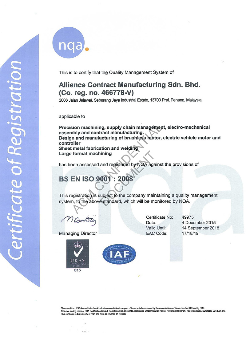 Certifications & Awards – ACM Holdings